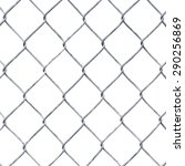 wire fence isolated on white | Shutterstock . vector #290256869