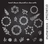 the set of hand drawn vector... | Shutterstock .eps vector #290258510