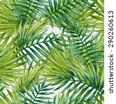 watercolor tropical palm leaves ... | Shutterstock .eps vector #290260613