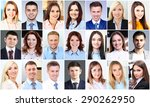 collage of business people...   Shutterstock . vector #290262950