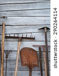 The Old Rusty Tradition Tools ...
