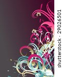 floral background for text | Shutterstock .eps vector #29026501
