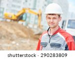 young construction site manager ... | Shutterstock . vector #290283809