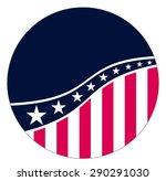 us vote badge | Shutterstock .eps vector #290291030