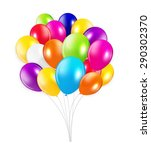 set of colored balloons  ... | Shutterstock . vector #290302370