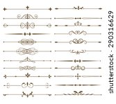 set page dividers. antique... | Shutterstock .eps vector #290316629