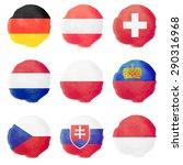 set of european watercolor... | Shutterstock .eps vector #290316968