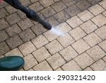 outdoor floor cleaning with... | Shutterstock . vector #290321420