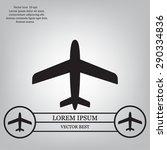 plane icon | Shutterstock .eps vector #290334836