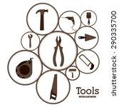 tools design over white... | Shutterstock .eps vector #290335700