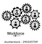 workforce design over white... | Shutterstock .eps vector #290335709