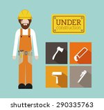 tools design over blue... | Shutterstock .eps vector #290335763