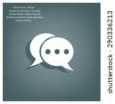 chat flat icon with shadow.... | Shutterstock .eps vector #290336213