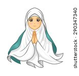 high quality muslim woman... | Shutterstock .eps vector #290347340
