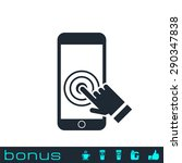 touch screen smart phone icon