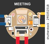 meeting illustration. meeting... | Shutterstock .eps vector #290352518