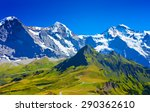 alps high mountains with snow... | Shutterstock .eps vector #290362610