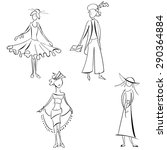 set of hand drawn sketches of... | Shutterstock .eps vector #290364884