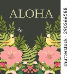 aloha. greeting card | Shutterstock .eps vector #290366588