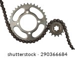 roller chains with sprockets... | Shutterstock . vector #290366684
