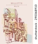 valletta  malta  europe. vector ...   Shutterstock .eps vector #290368910