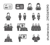 office people icons set. vector ... | Shutterstock .eps vector #290369090
