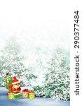 santa claus in the woods.... | Shutterstock . vector #290377484
