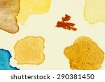 test watercolor vibrant paint... | Shutterstock . vector #290381450