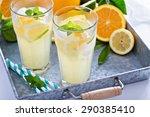 homemade citrus lemonade in... | Shutterstock . vector #290385410
