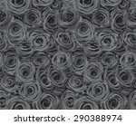 rose patterned fashion fabric... | Shutterstock .eps vector #290388974