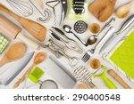 Background Of Kitchen Utensils...