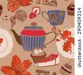 tea party card.   Shutterstock .eps vector #290409314