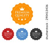 premium quality seal or label... | Shutterstock .eps vector #290413436
