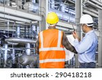 engineer and foreman working... | Shutterstock . vector #290418218