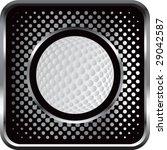 halftone silver button golf | Shutterstock .eps vector #29042587