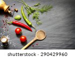 spices and herbs creative food... | Shutterstock . vector #290429960