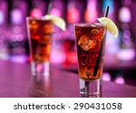 long island iced tea cocktail... | Shutterstock . vector #290431058