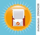 mail concept design  vector... | Shutterstock .eps vector #290434238