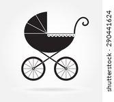 pram icon or sign. baby...   Shutterstock .eps vector #290441624