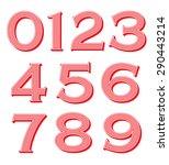 vintage numbers set | Shutterstock .eps vector #290443214