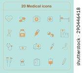medical line vector icon set   Shutterstock .eps vector #290446418