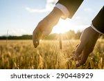 businessman holding his hands... | Shutterstock . vector #290448929