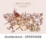 above view of bratislava ... | Shutterstock .eps vector #290454608