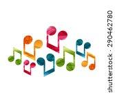 musical notes creative concept. ... | Shutterstock .eps vector #290462780
