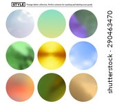 set of colorful blurred round... | Shutterstock .eps vector #290463470