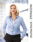 portrait of casual sales woman... | Shutterstock . vector #290465246