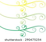 calligraphic decorative... | Shutterstock .eps vector #290475254