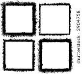 4 grunge style frames or borders   Shutterstock .eps vector #2904758