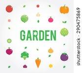 garden with vegetables icons... | Shutterstock .eps vector #290475869