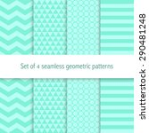 set of four geometric seamless... | Shutterstock .eps vector #290481248